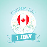 1 july Canada Day. Calendar for each day on july Stock Photo