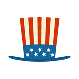 4 of July celebration hat icon. Usa top hat for independence day illustration isolated on white background stock illustration