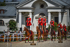 July 25, 2015. Ceremonial presentation of the Kremlin Riding School on VDNH in Moscow. Stock Images