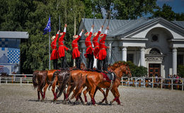 July 25, 2015. Ceremonial presentation of the Kremlin Riding School on VDNH in Moscow. Royalty Free Stock Image