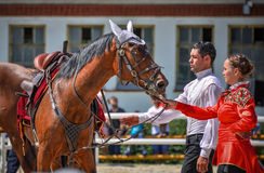 July 25, 2015. Ceremonial presentation of the Kremlin Riding School on VDNH in Moscow. July 25, 2015. Ceremonial presentation of the Kremlin Riding School on Royalty Free Stock Photo