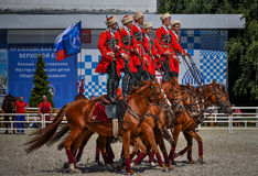 July 25, 2015. Ceremonial presentation of the Kremlin Riding School on VDNH in Moscow. July 25, 2015. Ceremonial presentation of the Kremlin Riding School on Royalty Free Stock Image
