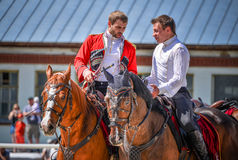 July 25, 2015. Ceremonial presentation of the Kremlin Riding School on VDNH in Moscow. July 25, 2015. Ceremonial presentation of the Kremlin Riding School on Stock Image