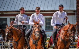 July 25, 2015. Ceremonial presentation of the Kremlin Riding School on VDNH in Moscow. July 25, 2015. Ceremonial presentation of the Kremlin Riding School on Royalty Free Stock Images