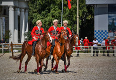 July 25, 2015. Ceremonial presentation of the Kremlin Riding School on VDNH in Moscow. Royalty Free Stock Images