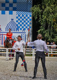 July 25, 2015. Ceremonial presentation of the Kremlin Riding School on VDNH in Moscow. July 25, 2015. Ceremonial presentation of the Kremlin Riding School on Stock Photos