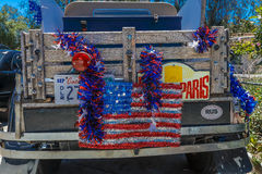 JULY 4, 2016 - Citizens of Ojai California celebrate Independence Day, old pickup truck Royalty Free Stock Images