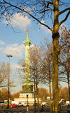 The July Column at the Place de la Bastille Royalty Free Stock Images