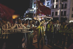 July 15 Coup Attempt Protests in Istanbul Royalty Free Stock Photos