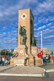 July 15 Coup Attempt Protests in Istanbul. Istanbul, Turkey - July 23, 2016: Turkish people gathering and waving flags at Taksim Square. The meetings were called Royalty Free Stock Photography