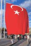 July 15 Coup Attempt Protests in Istanbul. Istanbul, Turkey - July 23, 2016: Turkish people gathering and waving flags at Taksim Square. The meetings were called Stock Image