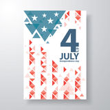4 of july cover design Stock Photography