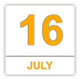 July 16. Day on the calendar. Royalty Free Stock Photos