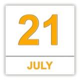 July 21. Day on the calendar. 3D illustration Stock Photos