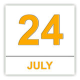 July 24. Day on the calendar. Royalty Free Stock Photography