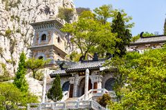 July 2017 - Denfeng, Henan, China - Sanhuang Basilica on the top of Songshan Mountain. royalty free stock photography