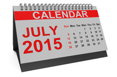 July 2015, desk calendar Stock Image