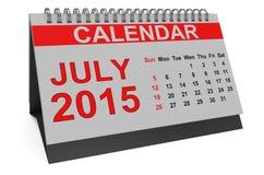 July 2015, desk calendar Stock Image