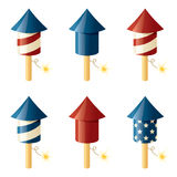 July Fourth Fireworks Royalty Free Stock Image
