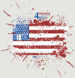 July fourth. Grunge background vector. Grunge print for t-shirt. Abstract dirt backgrounds texture. Grunge banner with Royalty Free Stock Image