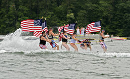 July Fourth on the Lake Stock Image