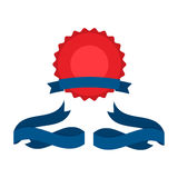 July fourth ribbons vector set. Fourth Of July Ribbons, Shields, Labels And Banners. Collection of July fourth ribbons shield and other badges with banners Royalty Free Illustration