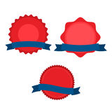 July fourth ribbons vector set. Fourth Of July Ribbons, Shields, Labels And Banners. Collection of July fourth ribbons shield and other badges with banners Royalty Free Stock Image