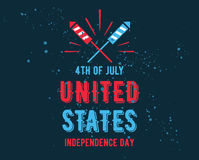 July fourth, United Stated independence day greeting. Stock Images