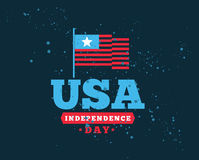 July fourth, United Stated independence day greeting. Royalty Free Stock Photos