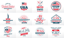 July fourth, United Stated independence day greeting. Royalty Free Stock Images