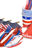 July fourth utensils Stock Photo