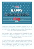 4 July Happy Independence Day Poster American Flag. 4th July happy Independence day poster on background of American flag, stars and stripes, greeting card stock illustration
