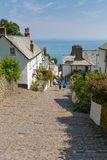 The July heatwave in England saw tourists flocking to Clovelly Devon Royalty Free Stock Photography