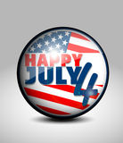 July 4 icon. Vector illustration background royalty free illustration