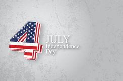 4 july  illustration. On the grunge background royalty free illustration