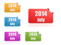 July of 2014 Stock Photos