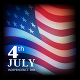 July 4 an Independence Day, the American flag as a background. Royalty Free Stock Images