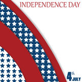 July 4 Independence day background. Poster. Stock Photography