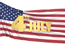 4 JULY Independence day. / 3D Rendering Stock Illustration