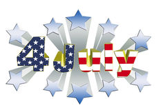 4 july independence day 3D theme Stock Photos