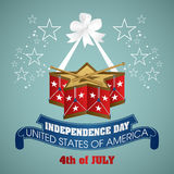 4 july Independence Day festive background. With drum, vector illustration Royalty Free Stock Photos