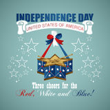 4 july Independence Day festive background. With drum, vector illustration Stock Image
