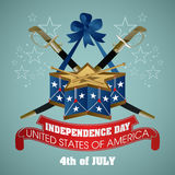 4 july Independence Day festive background Royalty Free Stock Photos