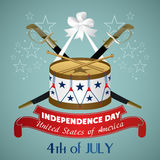4 july Independence Day festive background Royalty Free Stock Photo