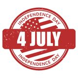 4 July Independence Day stamp Stock Image