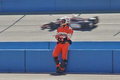 July 18, 2013 Indy Car at Auto Club Speredway, Fontana, California Royalty Free Stock Photos