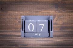 7 July. International Day of Cooperatives royalty free stock images