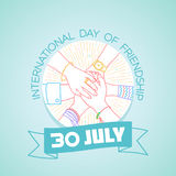 30 july International Day of Friendship Stock Images