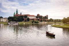 10 of July,2017-Krakow,Poland.Tourist boat on VIstula river with Stock Image