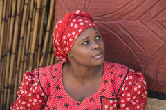 04 July, 2015 - Lesedi, South Africa. Zulu woman Bantu in ethnic clothes. Royalty Free Stock Images